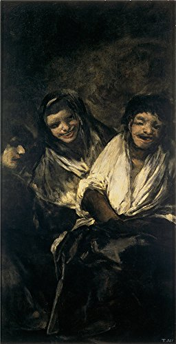 High Quality Polyster Canvas ,the Cheap But High Quality Art Decorative Art Decorative Prints On Canvas Of Oil Painting 'Goya Y Lucientes Francisco De Dos Mujeres Y Un Hombre 1820 23 ', 8 X 16 Inch / 20 X 40 Cm Is Best For Gym Decor And Home Artwork And Gifts (Outdoor Pedestal Clock Thermometer)