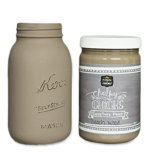 Chalk Finish Paint - Furniture & Cabinet Paint (32 oz, Beachwood)