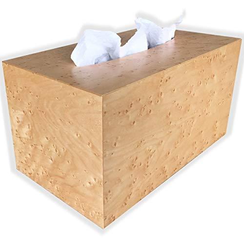 Hand Towel Box Cover and Dispenser fits Kimberly Clark Kleenex Brand POP-UP Paper Hand Towel Box - Birds Eye Maple Wood
