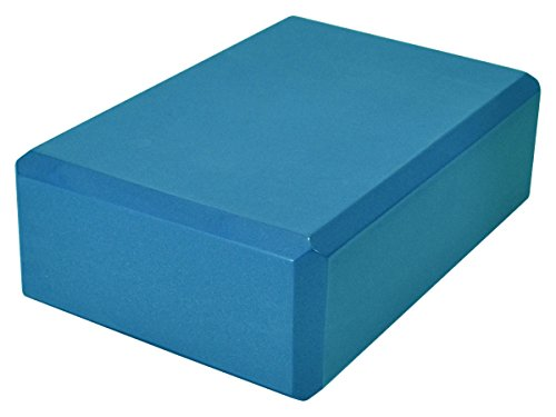 YogaAccessories 3'' Foam Yoga Block (Aqua Green)