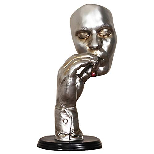 Color : Black, Size : A Zhangmeiren Abstract Thinker Figure Statue Sculpture Decoration Living Room Decorative Home Accessories Nordic Decorative Bar