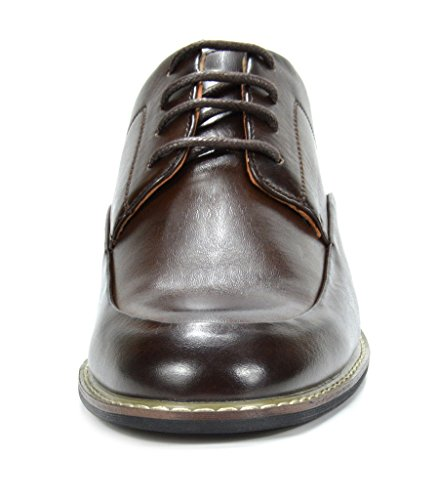 Bruno Marc Mens Prime-1 Leather Lined Dress Oxfords Shoes Dark Brown KhnkgkWF