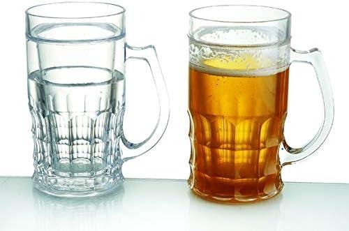 boccale di birra rinfrescante per 400 ml parete di vetro a doppia refr