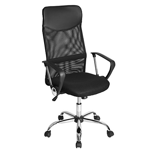 GreenForest Office Chair for Computer Desk Mesh High Back Tilting Function Adjustable Swivel Task Chair, Black
