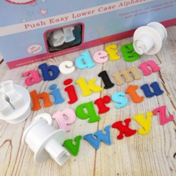 Push Easy Cutters - Lowercase Alphabet Set 26 Piece by Cake Star, Culpitt