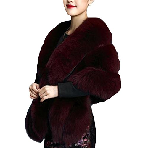 Faux Fur Wrap Cape Shawl for Women's Wedding Dresses and Ladies Party