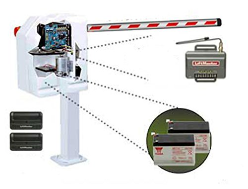 LiftMaster Mega Arm Sprint (MASDCBB3) Parking Barrier Gate Operator Kit Includes 8 FT. Padded Boom (SP8), 850LM Receiver,Two 12V/7AMP Batteries (MA004), Two 811LM Wireless Remotes and Adapter Collar