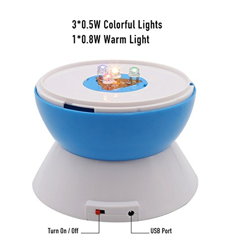 SCOPOW Lighting Night Light Star Projector with Timer Auto-Shut Off, 360 Degree Rotation Colorful Moon Night Lamp Decorative Gift for Baby Kid Children Bedroom Nursery Decor by SCOPOW (Image #4)