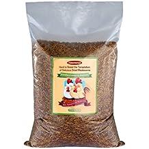 Hatortempt 11lbs Bulk Dried Mealworms for Wild Birds, Chichens, Duck etc