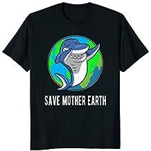 Earth Day Shirt - Save Mother Earth Dabbing Shark T-shirt