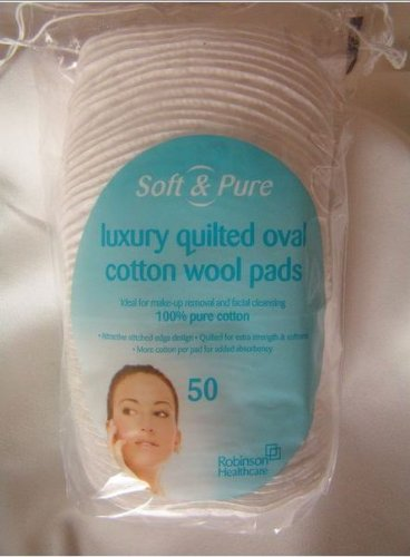 Soft & Pure Cosmetic Pads Oval 50's Robinson Healthcare ROB0648T