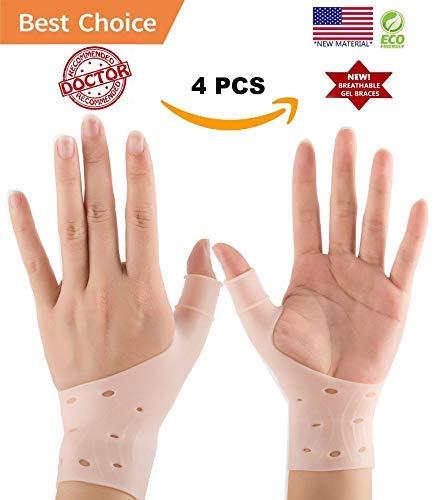 DropSky [4pcs] Gel Wrist Thumb Support Braces