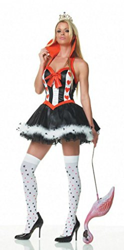 Leg Avenue Womens Queen Of Hearts Wonderland Alice Fancy Dress Sexy Costume, XL (Queen Of Hearts Costumes Cheap)