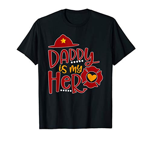 (Cute Daddy is my superhero Firefighter T-shirt)