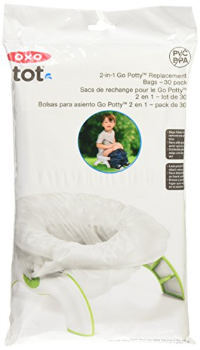 OXO Tot 2-in-1 Go Potty Refill Bags, 30 Count (Bag Small Tote Flap)