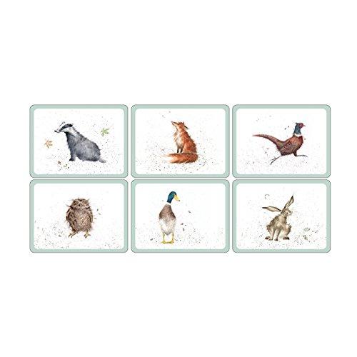 Pimpernel MDF with Cork Back Wrendale Designs Placemats, Set of 6 ...