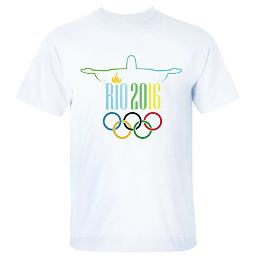 XTOTO Men's Rio 2016 Summer Olympics Christ the Redeemer Cool T-shirts white XL