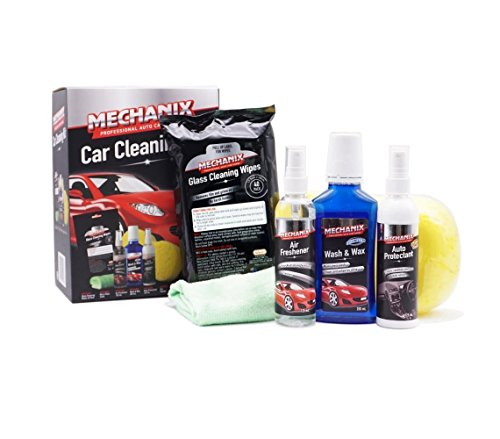 Mechanix 6 Piece Premium Car Care Cleaning Kit – All Purpose Auto Cleaner Best Gift for Dad By Pascoes, supplying products of excellence for over 30 years