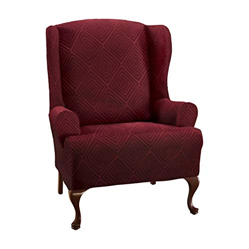 Stretch Sensations Shapely Diamond Wing Chair Slipcover - Wi