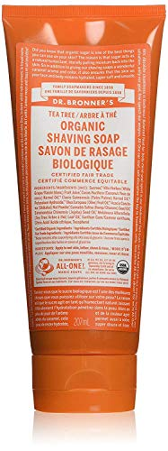 (Dr. Bronner's Organic Shaving Soap Gel Tea Tree, 7 oz)