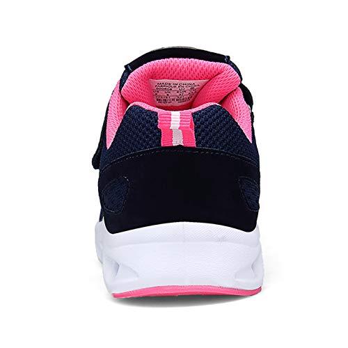 44 Pink Größe Fitnessschuhe Laufschuhe Flach Sportschuhe Leicht Zkyo Outdoor Herren 36 Damen Blau Hallenschuhe mit Klettverschluss wxZOOP04