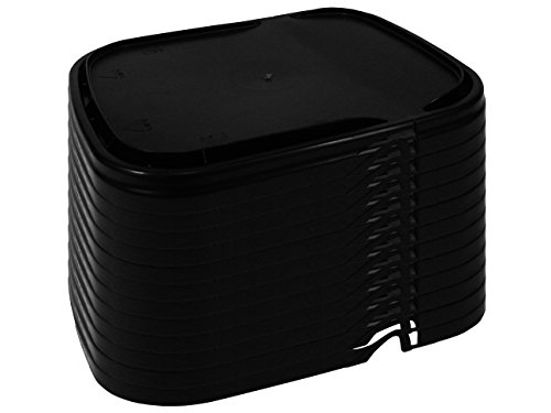 Hinged Lid for 5.3 Gallon Rectangular Bucket, black, 12-Pack ()