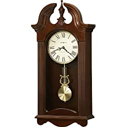 Howard Miller Malia Wood Wall Clock in Cherry Bordeaux Finish