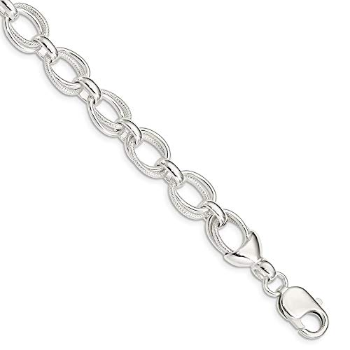 (925 Sterling Silver 7.5inch Link Bracelet 7.5 Inch Chain Fancy Fine Jewelry Gifts For Women For Her)