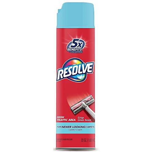 Clean Foam Cleaner - Resolve High Traffic Carpet Foam, Crisp Linen 22 oz Can, Cleans Freshens Softens & Removes Stains