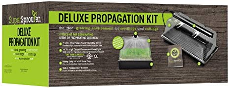 """Super Sprouter HGC726403 Deluxe Propagation Kit Includes 7/"""" Ultra Humidity Dome,"""