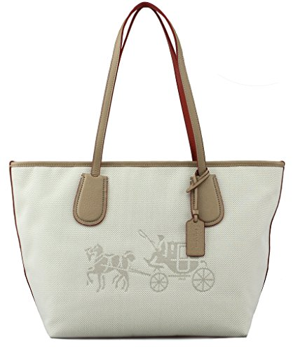 Coach 35337M Canvas Horse and Carriage Taxi Tote - And Coach Horse Handbag Carriage
