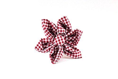 Garnet Bow (Garnet Gingham Girl Dog Flower Bow Tie)