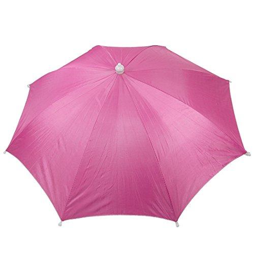 uxcell Fishing Golf Beach Sun Shade Umbrella Hat Headwear Fuchsia