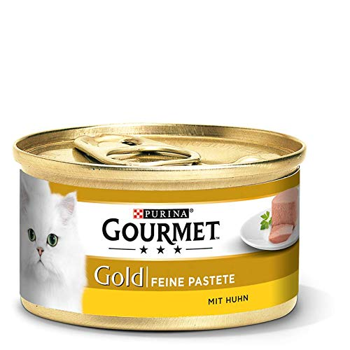 PURINA GOURMET Gold Feine Pastete Katzenfutter nass, verschiedene Sorten, 12er Pack (12 x 85g)