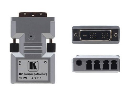 Kramer 610R/US Dual-Link DVI over Optical Fiber Extender (Receiver) (1312ft)