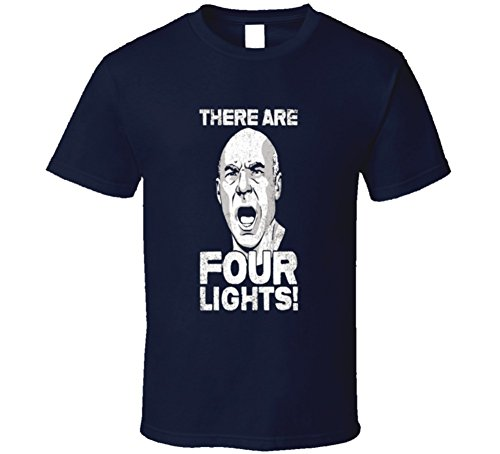 hirt There are Four Lights! Cool Sci-fi TV Shirts L Navy ()