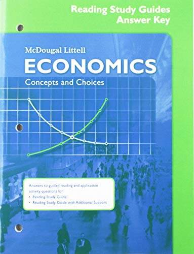 Economics: Concepts and Choices: Reading Study Guide Answer Key