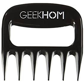 Meat Claws, GEEKHOM BBQ Claws Heavy Duty Pulled Pork Shredder Claws Barbecue Bear Paws For Shredding Handling & Carving Food from Smoker Grills(Set of 2, Black )