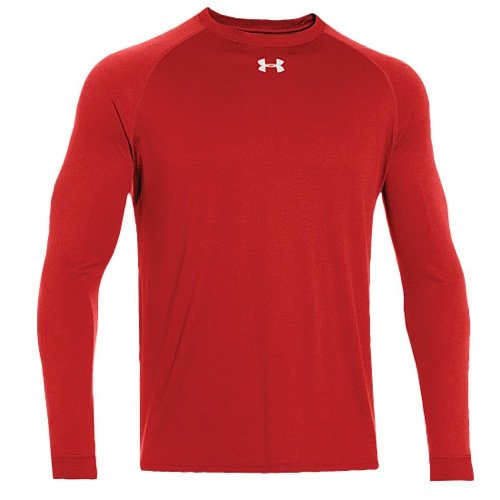 Under Armour Mens Locker T Long Sleeve Shirt, Red, X-Large