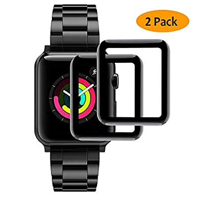 [2 Packs] Hianjoo Screen Protector Compatible for Apple Watch 38mm 42mm