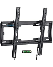 TV Wall Bracket Mount, Tilt TV Mount for Most 26-55 inch LED/LCD TV Support 45kg, Max VESA 400x400mm, Bubble Level included To Easy Installation