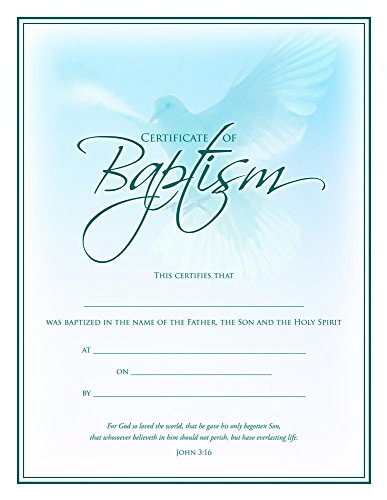 Baptism Certificate (Pk of 6) - Coated, Full Color