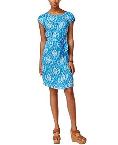 Buy electric blue shift dress - 4