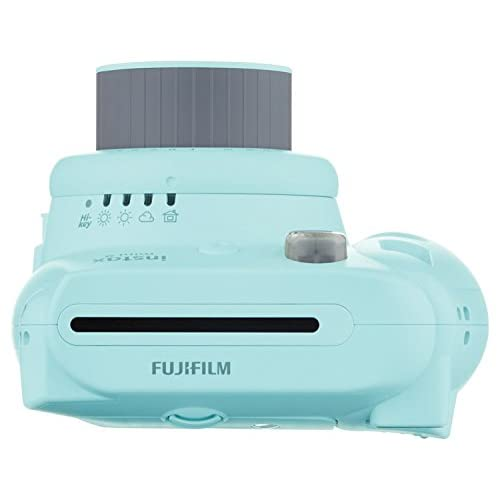 Fujifilm Instax Mini 9 (Ice Blue) w/Photo Album & Film Bundle