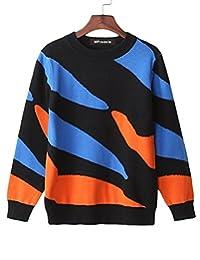 MFrannie Boys Asymmetric Contrasted Stripe Warm Autumn Sweater