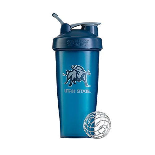 BlenderBottle Collegiate Classic 28-Ounce Shaker Bottle, Utah State University Aggies - Blue/Blue ()