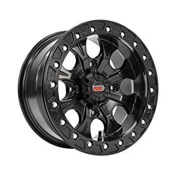 Pack of 1 4+4 Casino Beadlock Black finish Wheel for Polaris GMZ 4//156 15x8