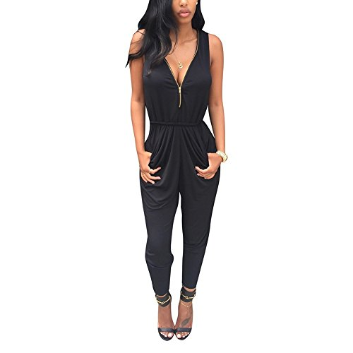 560d36486d35 Weixinbuy Women s V Neck Clubwear Casual Romper Jumpsuit Pants Party Dress  M from Weixinbuy
