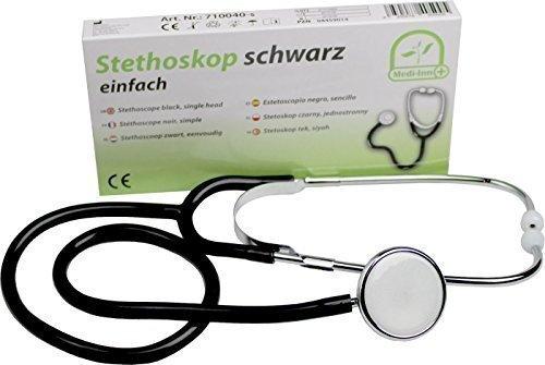 Stethoskop Flachkopf Farbe: schwarz von Medi-Inn super Akustik