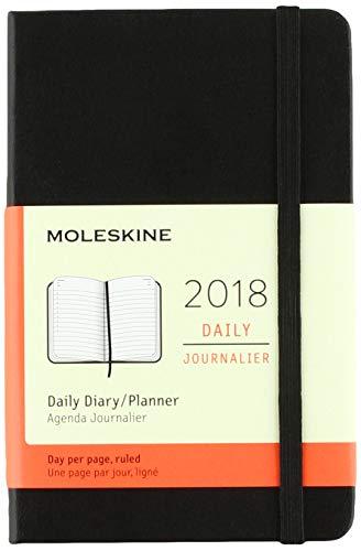 Moleskine 12 Month Daily Planner, Pocket, Black, Hard Cover (3.5 x 5.5)